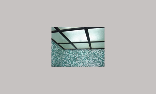 Steam room ceiling
